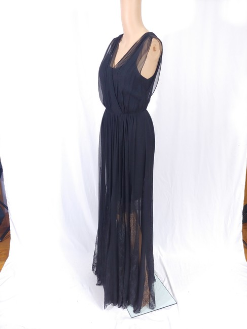 Black Maxi Dress by Alice + Olivia Silk Godet Faux Wrap Chiffon Maxi Image 4