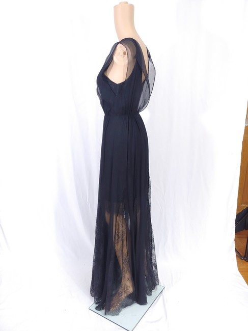 Black Maxi Dress by Alice + Olivia Silk Godet Faux Wrap Chiffon Maxi Image 5