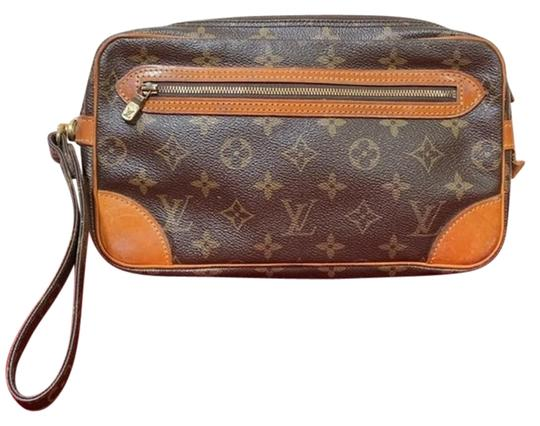Preload https://img-static.tradesy.com/item/25809498/louis-vuitton-marly-dragonne-gm-wristlet-m51825-brown-monogram-canvas-clutch-0-1-540-540.jpg