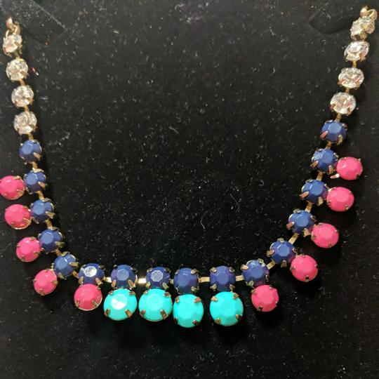Preload https://item5.tradesy.com/images/jcrew-gold-navy-blue-pink-aqua-necklace-25809504-0-0.jpg?width=440&height=440