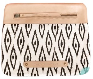 Twelfth St. by Cynthia Vincent black, white, nude Clutch