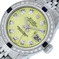Rolex Ladies Datejust Stainless Steel with Diamond Dial Watc Image 0