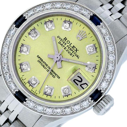 Preload https://img-static.tradesy.com/item/25809530/rolex-yellow-ladies-datejust-stainless-steel-with-diamond-dial-watch-0-2-540-540.jpg