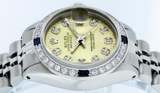 Rolex Ladies Datejust Stainless Steel with Diamond Dial Watc Image 7