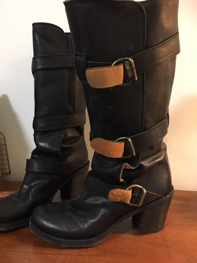 Fiorentini + Baker Leather High Heels And Black Boots Image 1