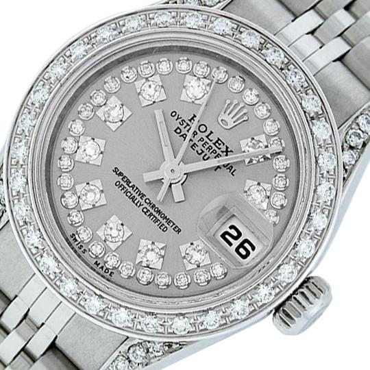 Preload https://img-static.tradesy.com/item/25809563/rolex-gray-ladies-datejust-stainless-steel-with-string-diamond-dial-watch-0-3-540-540.jpg