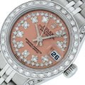 Rolex Ladies Datejust Stainless Steel with String Diamond Dial Watch Image 0