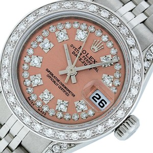 Rolex Ladies Datejust Stainless Steel with String Diamond Dial Watch