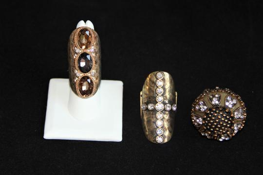 Unbranded Three Bold and Edgy Sparkling Knuckle Rings. Image 3