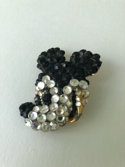 Disney Vintage Wendy Gell Disney Co. rhinestone Mickey Mouse Brooch Pin Image 1