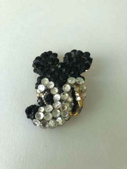Disney Vintage Wendy Gell Disney Co. rhinestone Mickey Mouse Brooch Pin Image 2