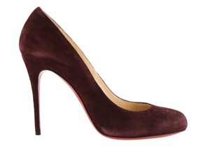 Christian Louboutin Suede Leather Red Pumps