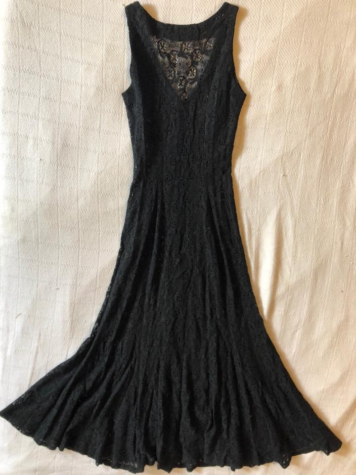 ac576c0c4 Betsey Johnson Black Vintage Luxe Long Night Out Dress Size Petite 0 (XXS)