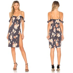 Majorelle Revolve Floral Butterfly High Slit Lace Dress