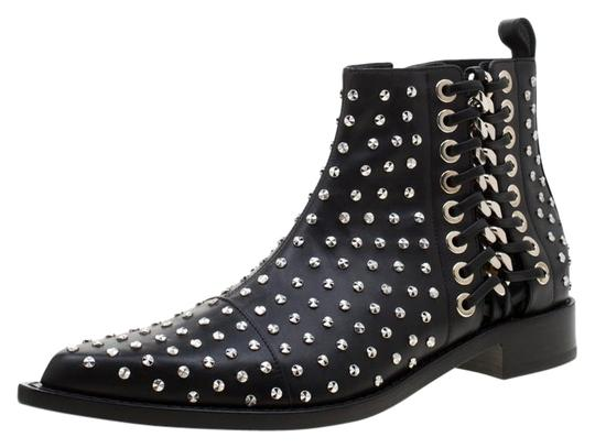 Preload https://img-static.tradesy.com/item/25810005/alexander-mcqueen-black-leather-studded-pointed-toe-ankle-bootsbooties-size-eu-41-approx-us-11-regul-0-1-540-540.jpg