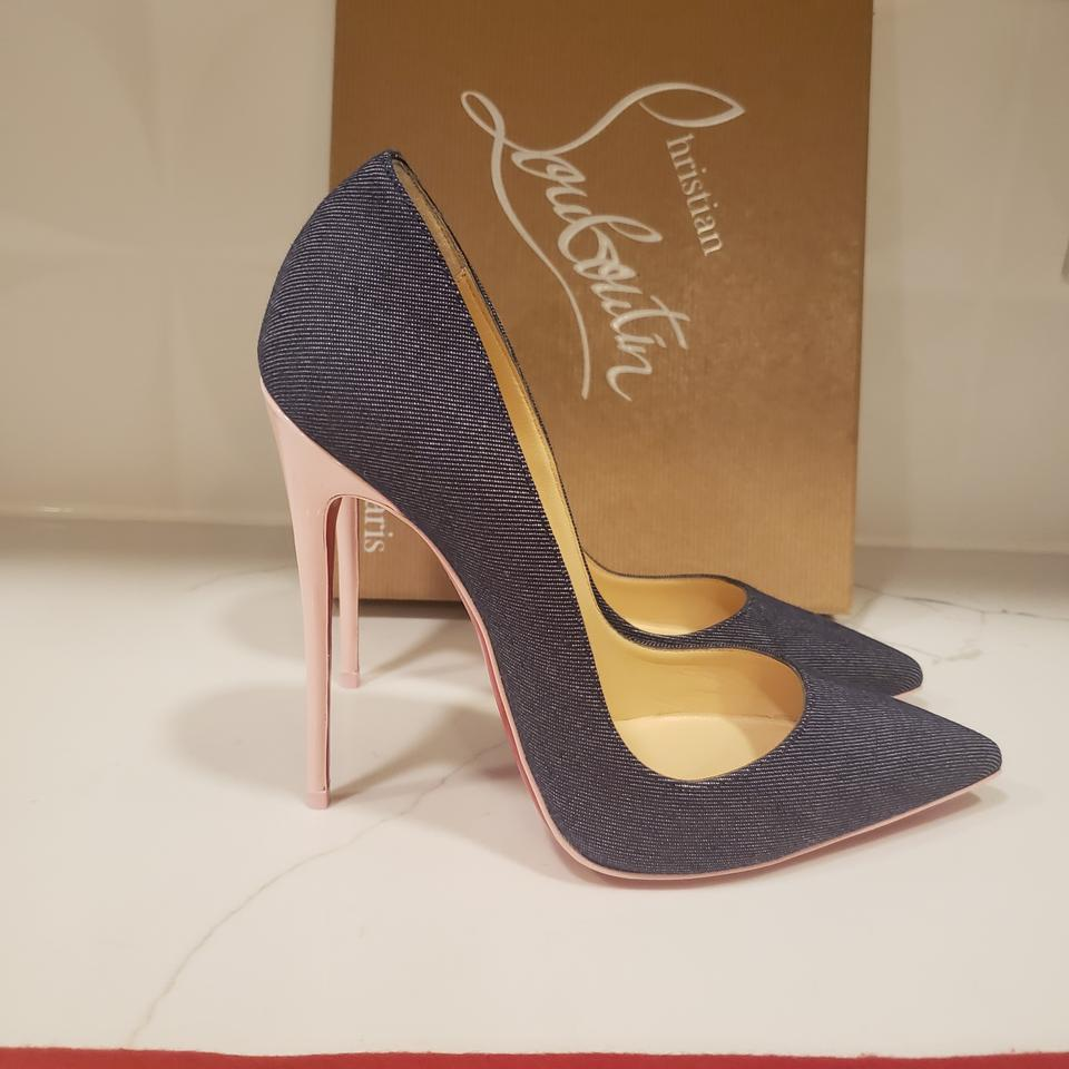 408a486ae2a Christian Louboutin Blue/Light Pink So Kate 120 Denim Patent Leather  Stiletto Pumps Size EU 38 (Approx. US 8) Regular (M, B) 27% off retail