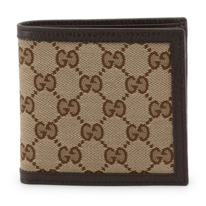 Gucci NEW Gucci Brown Ebony Micro GG Guccissima Bifold Wallet