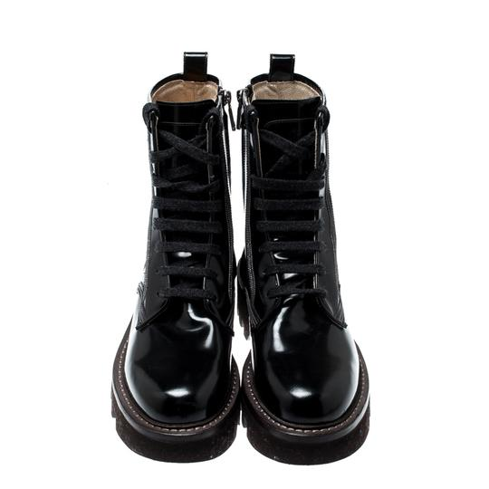 Brunello Cucinelli Ankle Suede Patent Leather Leather Rubber Black Boots Image 1