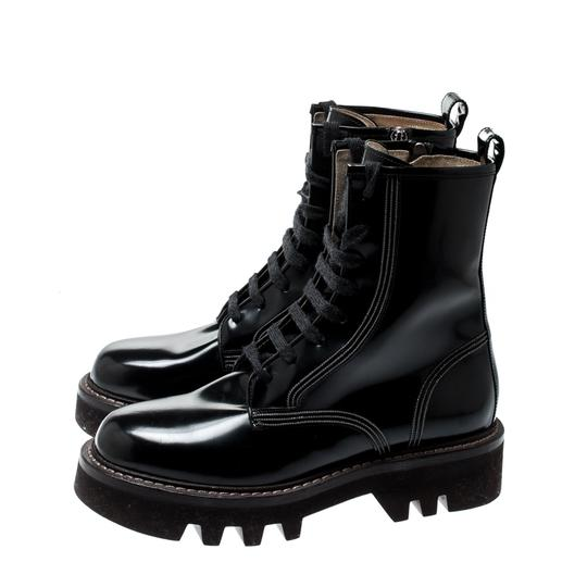 Brunello Cucinelli Ankle Suede Patent Leather Leather Rubber Black Boots Image 3