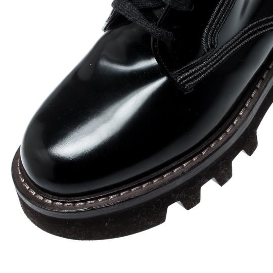Brunello Cucinelli Ankle Suede Patent Leather Leather Rubber Black Boots Image 5