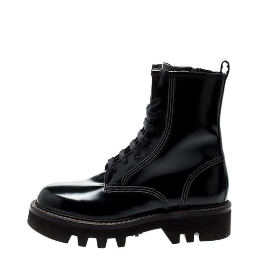 Brunello Cucinelli Ankle Suede Patent Leather Leather Rubber Black Boots Image 6