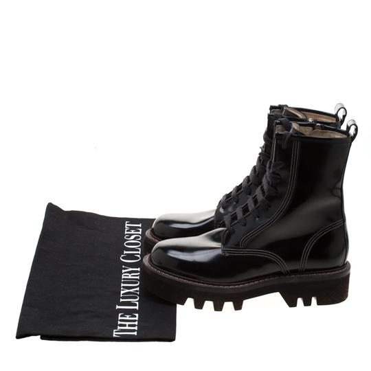 Brunello Cucinelli Ankle Suede Patent Leather Leather Rubber Black Boots Image 7