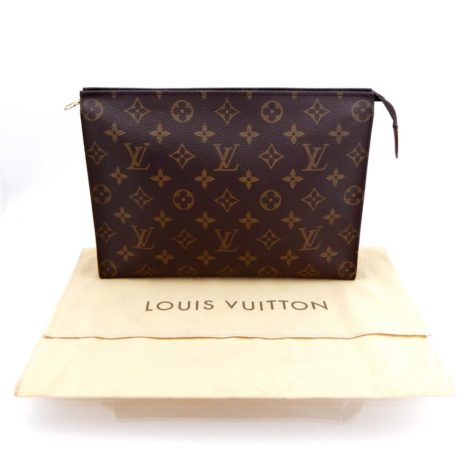 7883b548b37 Louis Vuitton Brown Toiletry Pouch Vintage 26 Monogram Large Travel Dopp  Cosmetic Bag