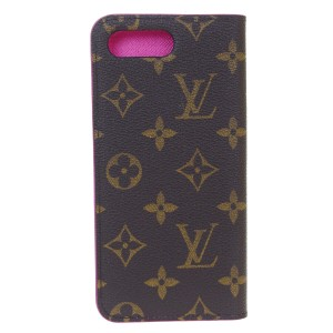 Louis Vuitton LOUIS VUITTON Cell Phone Case iPhone 8+ Monogram Leather Brown