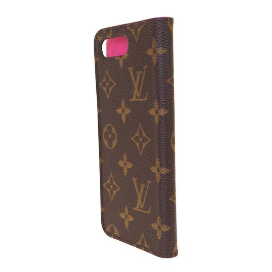Louis Vuitton LOUIS VUITTON Cell Phone Case iPhone 8+ Monogram Leather Brown Image 1