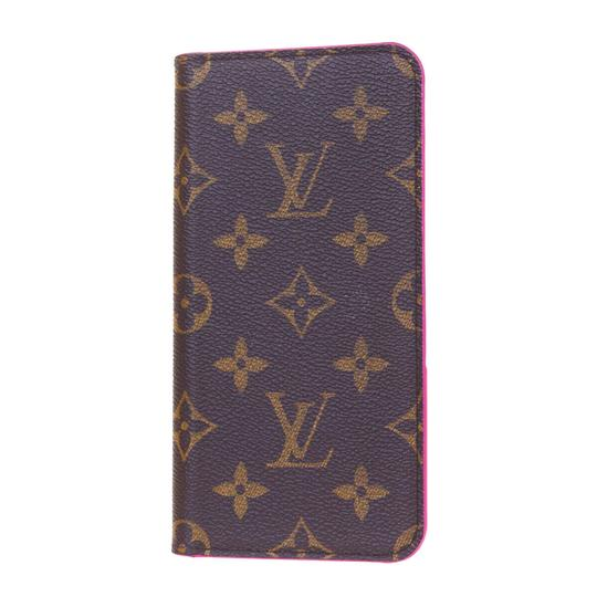 Louis Vuitton LOUIS VUITTON Cell Phone Case iPhone 8+ Monogram Leather Brown Image 3