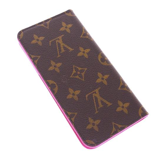 Louis Vuitton LOUIS VUITTON Cell Phone Case iPhone 8+ Monogram Leather Brown Image 6