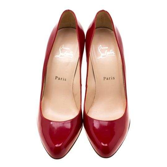Christian Louboutin Patent Leather Leather Red Pumps Image 1