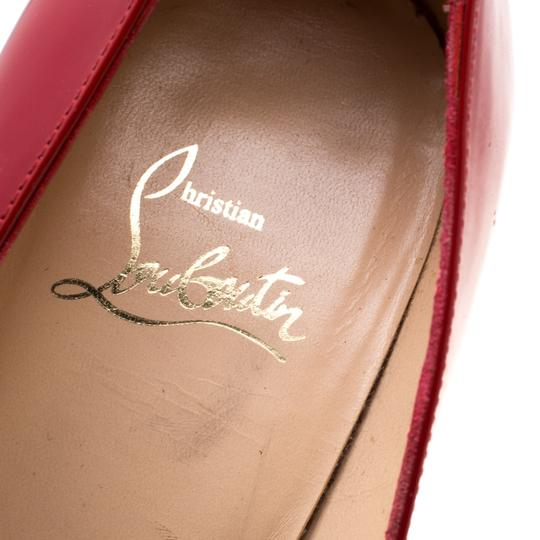 Christian Louboutin Patent Leather Leather Red Pumps Image 6