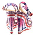 Christian Louboutin Woven Wedge Leather Multicolor Sandals Image 2