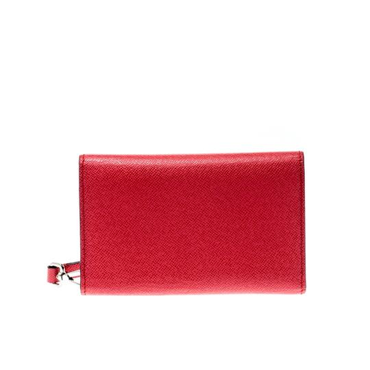 Alexander McQueen Pink Leather Heroine iPhone and Card Holder Case Image 2