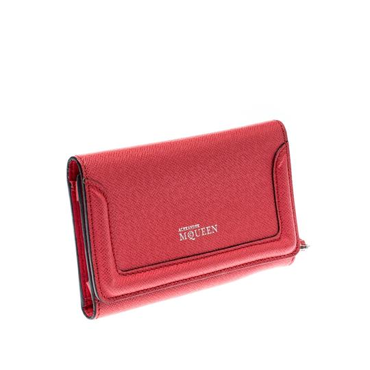 Alexander McQueen Pink Leather Heroine iPhone and Card Holder Case Image 3