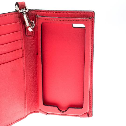 Alexander McQueen Pink Leather Heroine iPhone and Card Holder Case Image 4