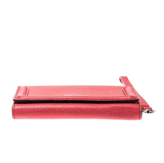 Alexander McQueen Pink Leather Heroine iPhone and Card Holder Case Image 9