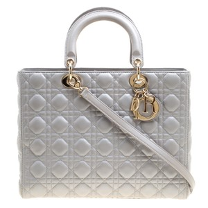 Dior Leather Tote in Grey