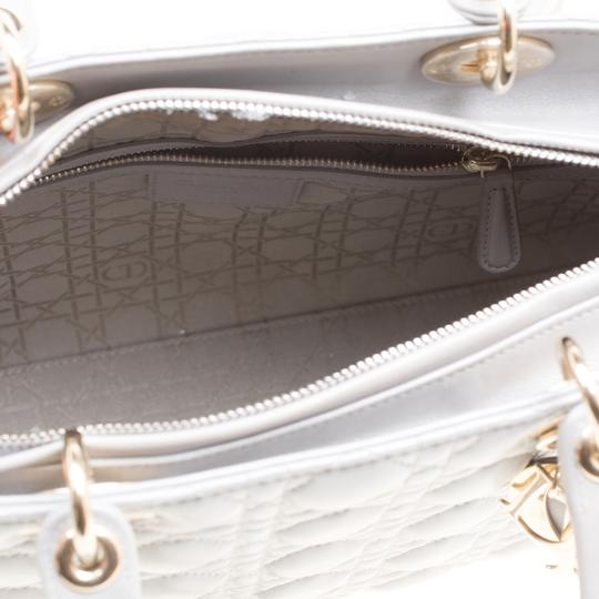 Dior Leather Tote in Grey Image 3