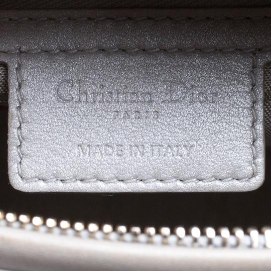 Dior Leather Tote in Grey Image 8