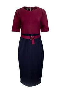 Ted Baker short dress Red Wine Navy Belted on Tradesy
