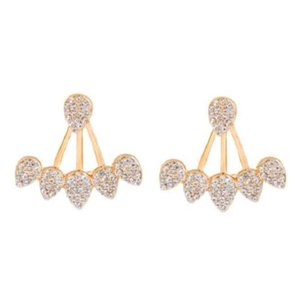 Rebecca Minkoff Pave Crystal & Gold Jacket Earrings