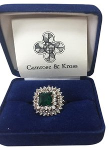 Camrose & Kross ring with green colored stone