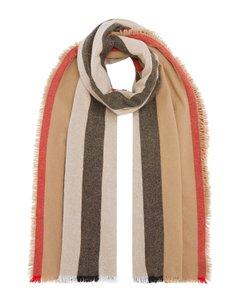 Burberry ICON STRIPE WOOL CASHMERE SCARF