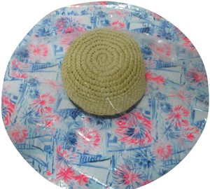 Lilly Pulitzer NEW LILLY PULITZER Sea to Shining Sea Straw Fabric Floppy Beach Hat