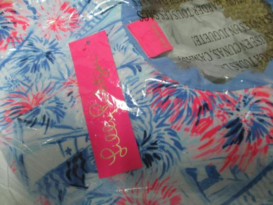 Lilly Pulitzer NEW LILLY PULITZER Sea to Shining Sea Straw Fabric Floppy Beach Hat Image 2