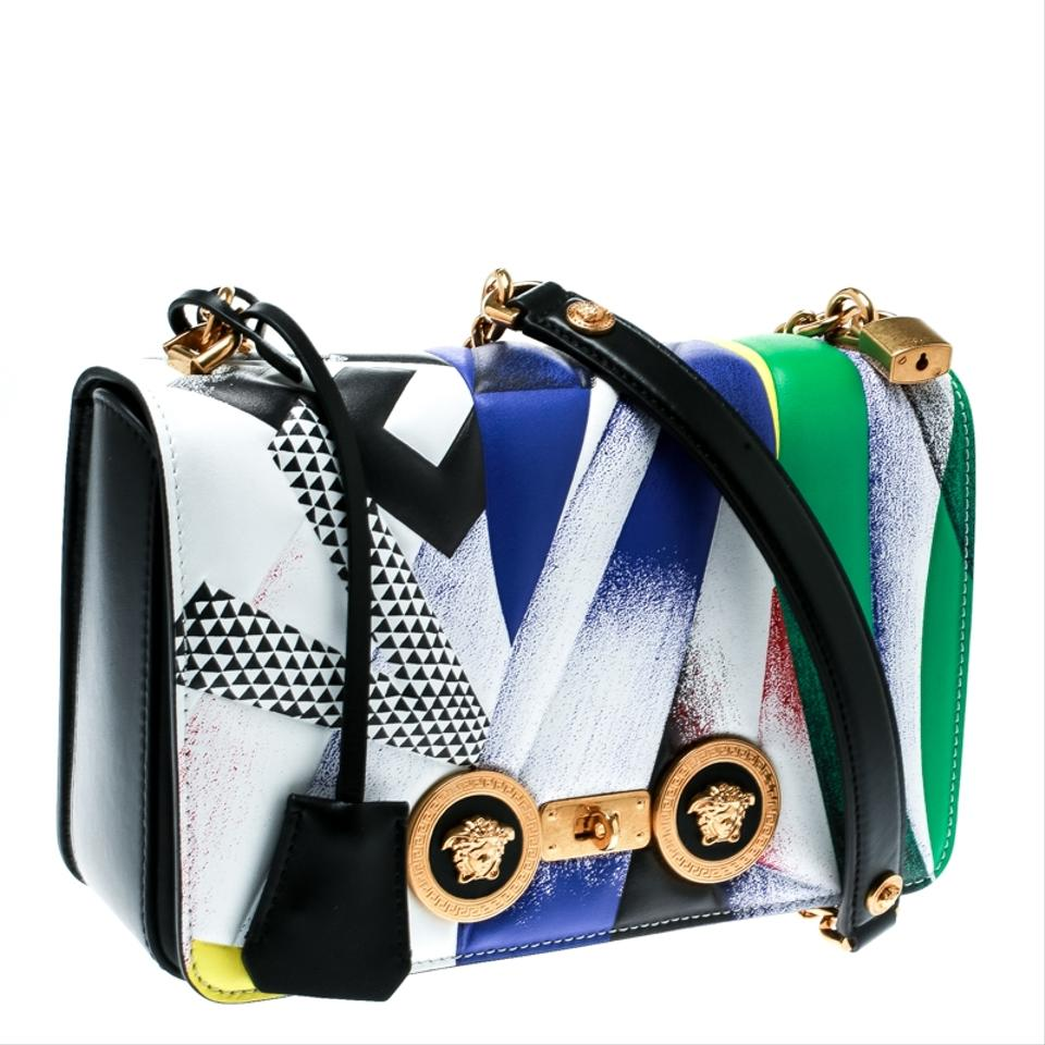 69942acf8d Versace Clash Print Icon Multicolor Leather Shoulder Bag