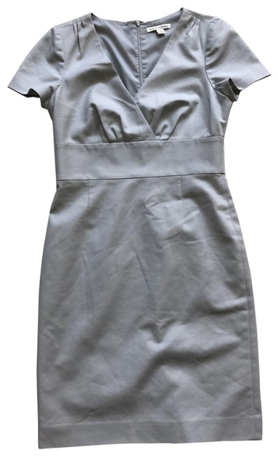 Item - Gray Stretch Mid-length Short Casual Dress Size 6 (S)