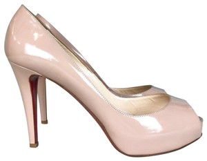 Christian Louboutin Prive Nude Patent Leather Beige Pumps